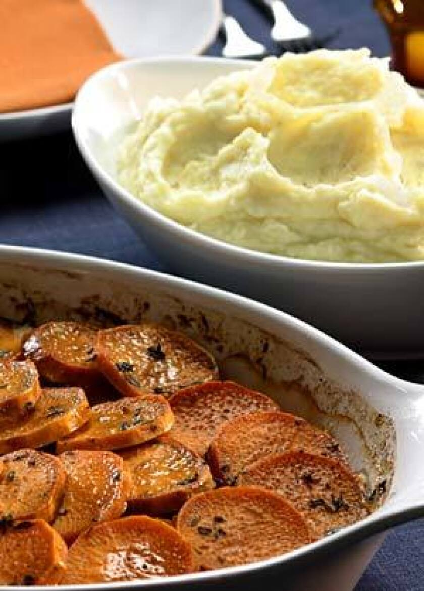 MORE IS MORE: Serve both sweet potato gratin and mashed potatoes this holiday.