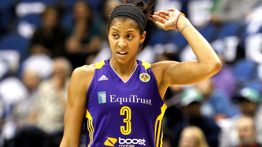Candace Parker, shown during a game last season, led the Sparks with 24 points in a win over Phoenix on Friday night.