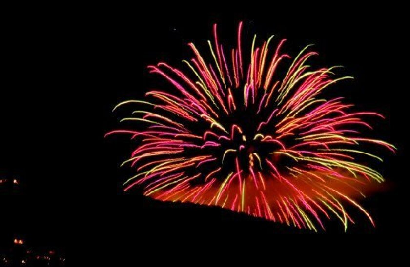 Fireworks from this year's event in La Jolla. File photo