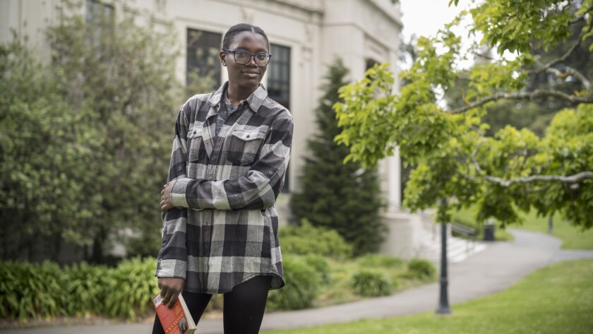 MAY 26, 2018 BERKELEY, CA Ifechukwu Okeke, photographed at the campus, is a UC Berkeley junior from