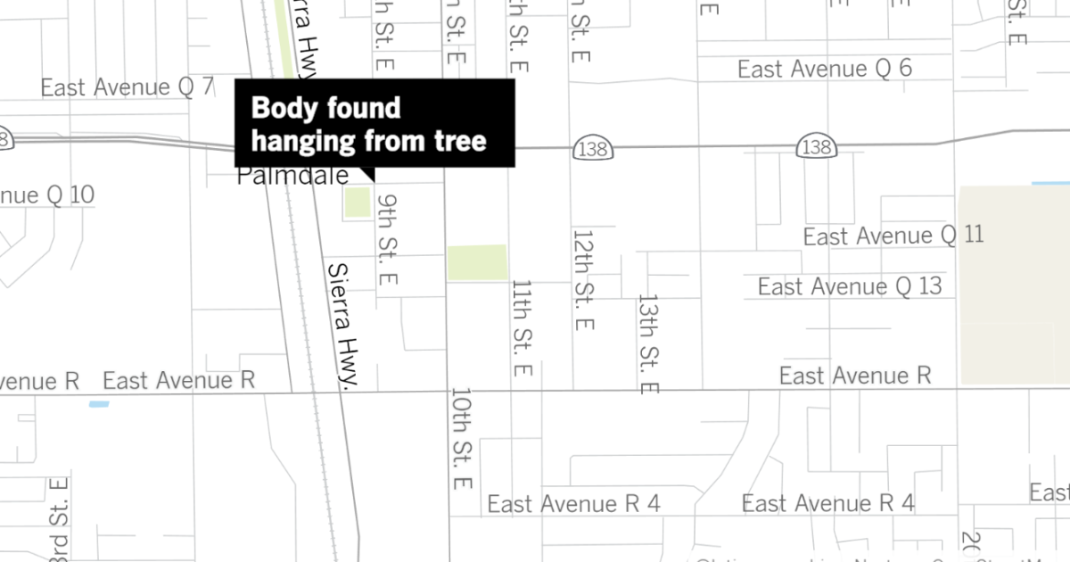 Photo of Investigation ongoing after young Black man found hanging from tree in Palmdale | Los Angeles Times