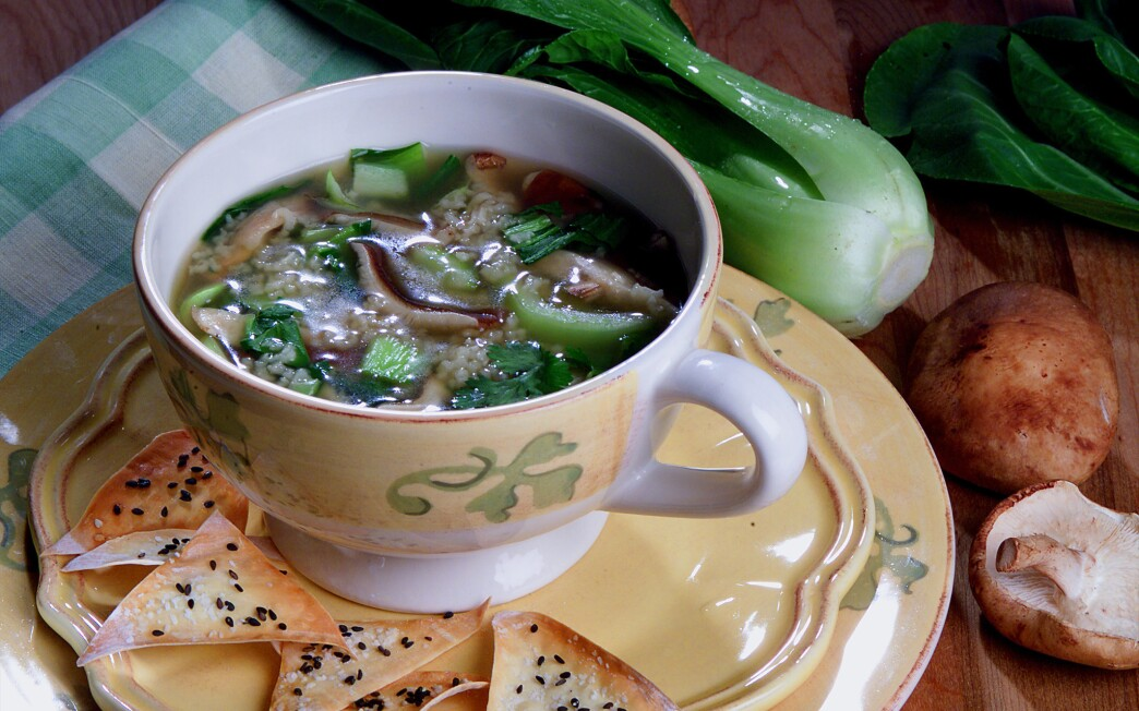 Ginger Chicken Soup With Shiitake Mushrooms