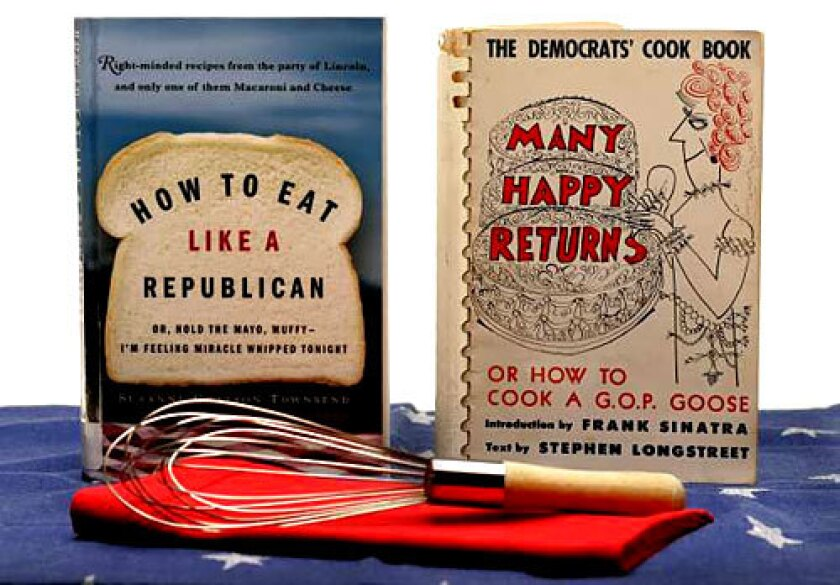 ACROSS THE AISLE: Recipes from politicians and their pals fill quirky cookbooks. Bipartisan report: Some are tasty.