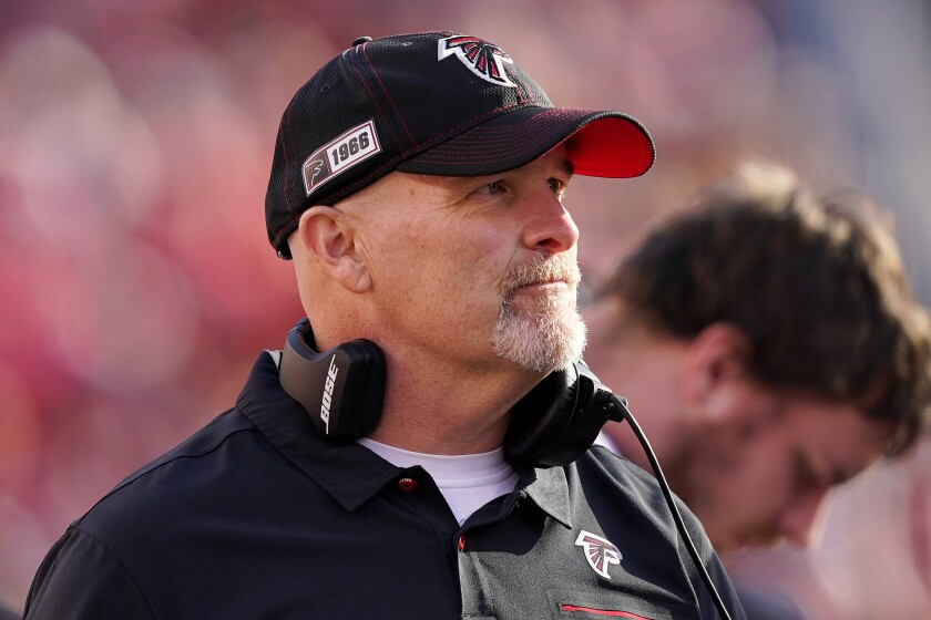 Dan Quinn will be back for a sixth season as Atlanta Falcons head coach, team owner Arthur Blank said Friday.