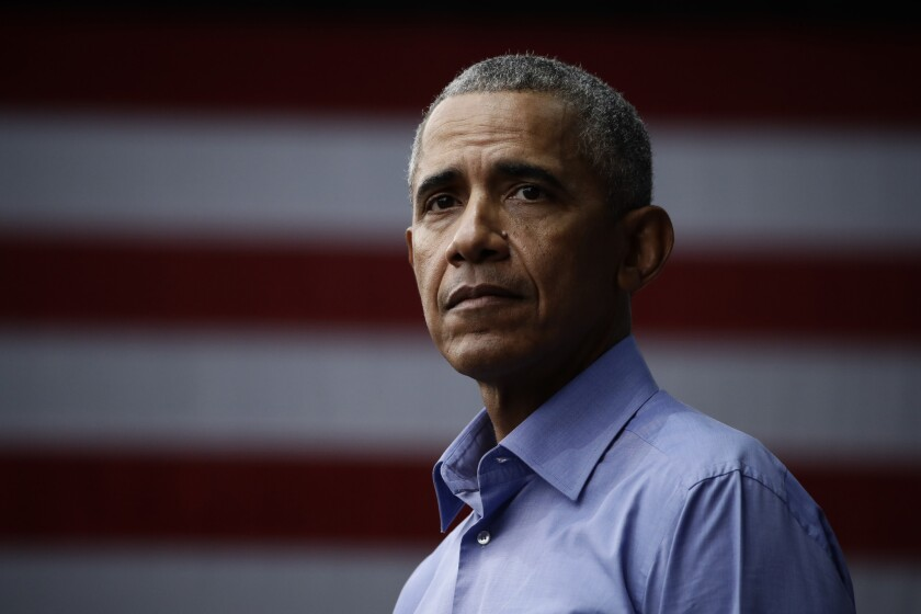 Former President Barack Obama threw his support behind nearly a dozen New York congressional candidates on Monday.
