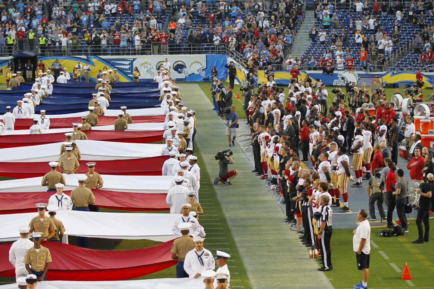 Chargers vs 49ers 9/1/16