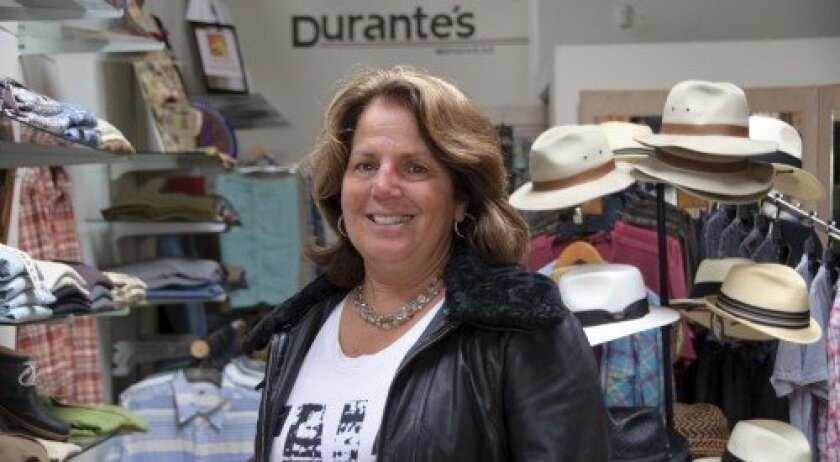 Yvonne DiChiara has owned Durante's Menswear boutique for 29 years. Photo: Claire Harlin
