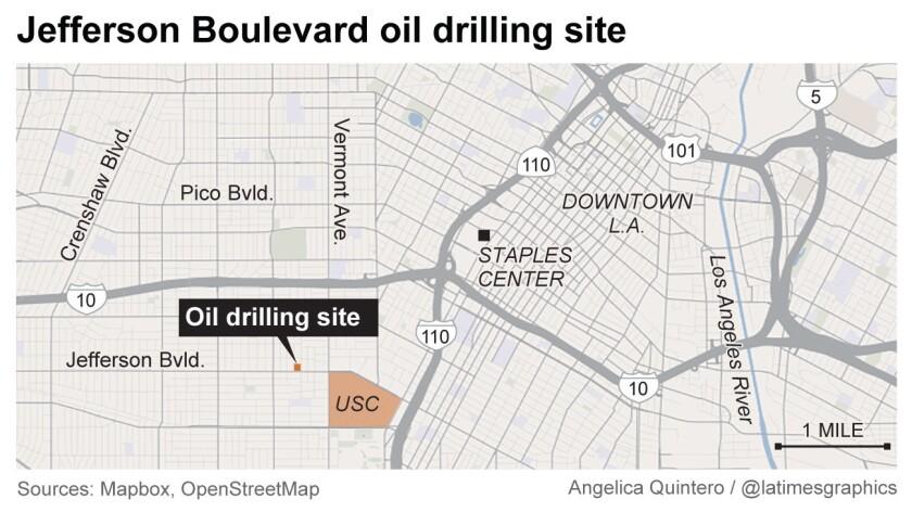 Jefferson Boulevard oil drilling site