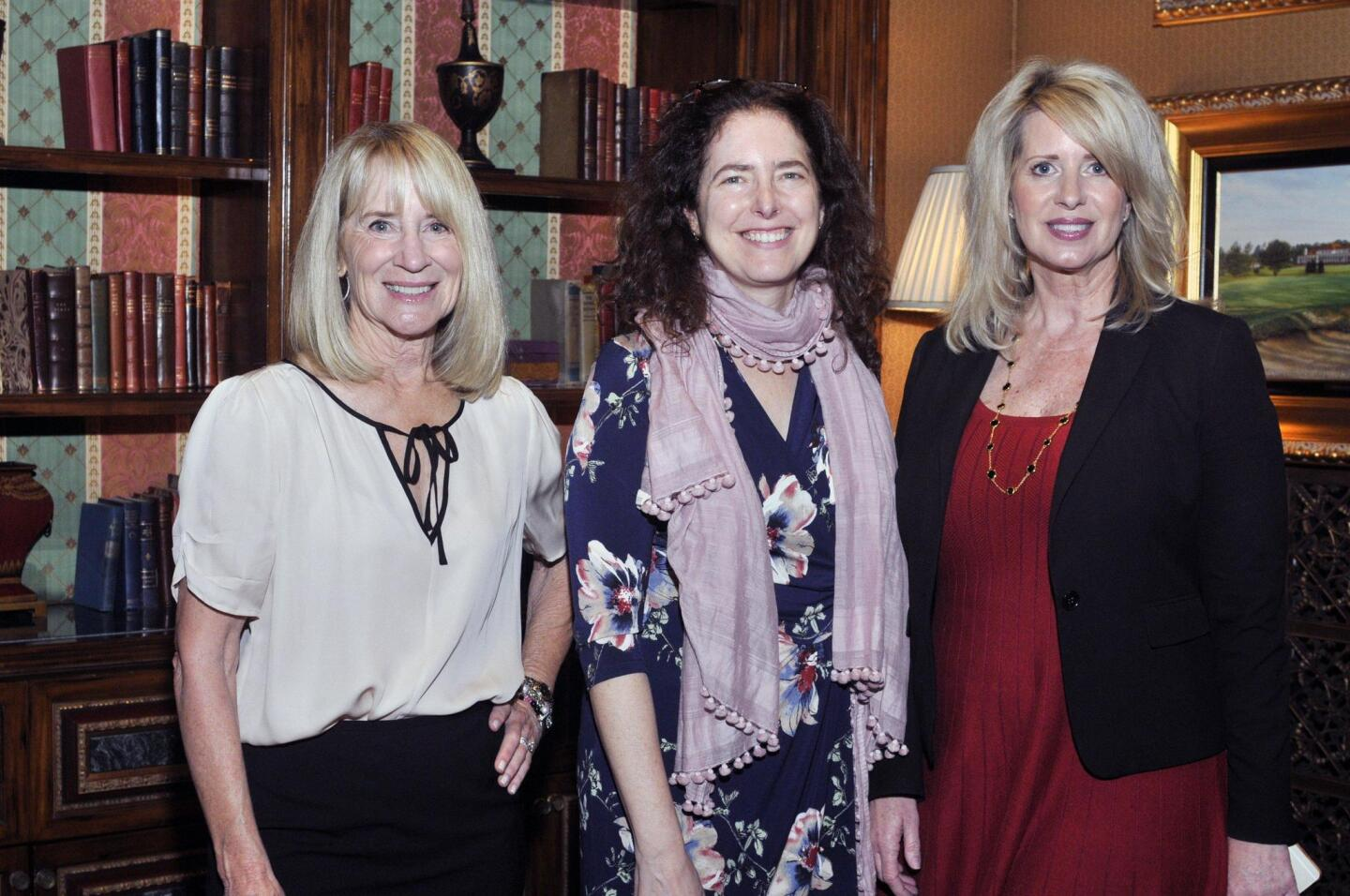 RSF Literary Society President Candace Humber, author Diana Abu-Jaber, Northern Trust Events and Marketing manager Kelly Covard