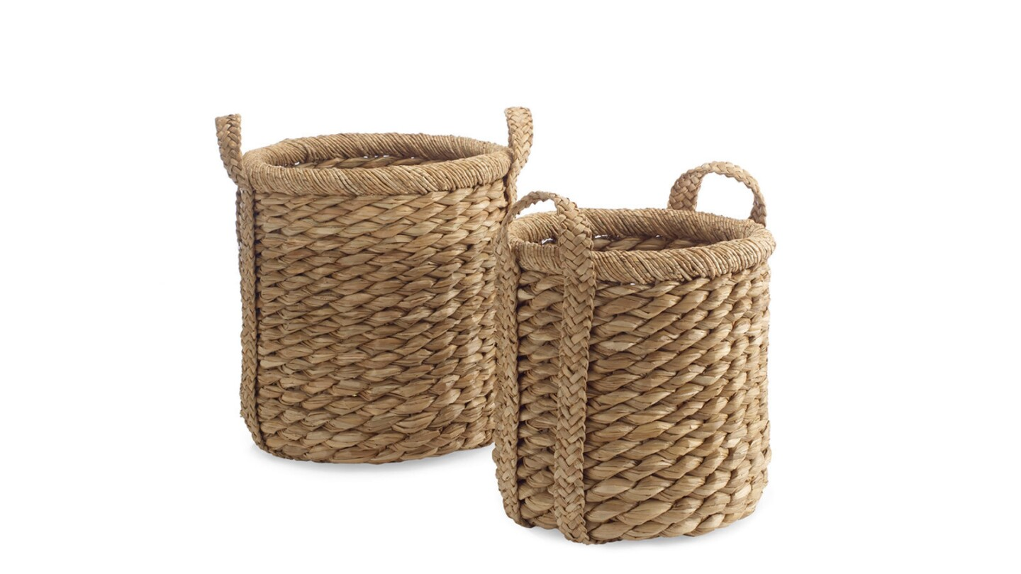 Higbee Round Baskets from Williams-Sonoma are $129 for the small and $179 for the large.