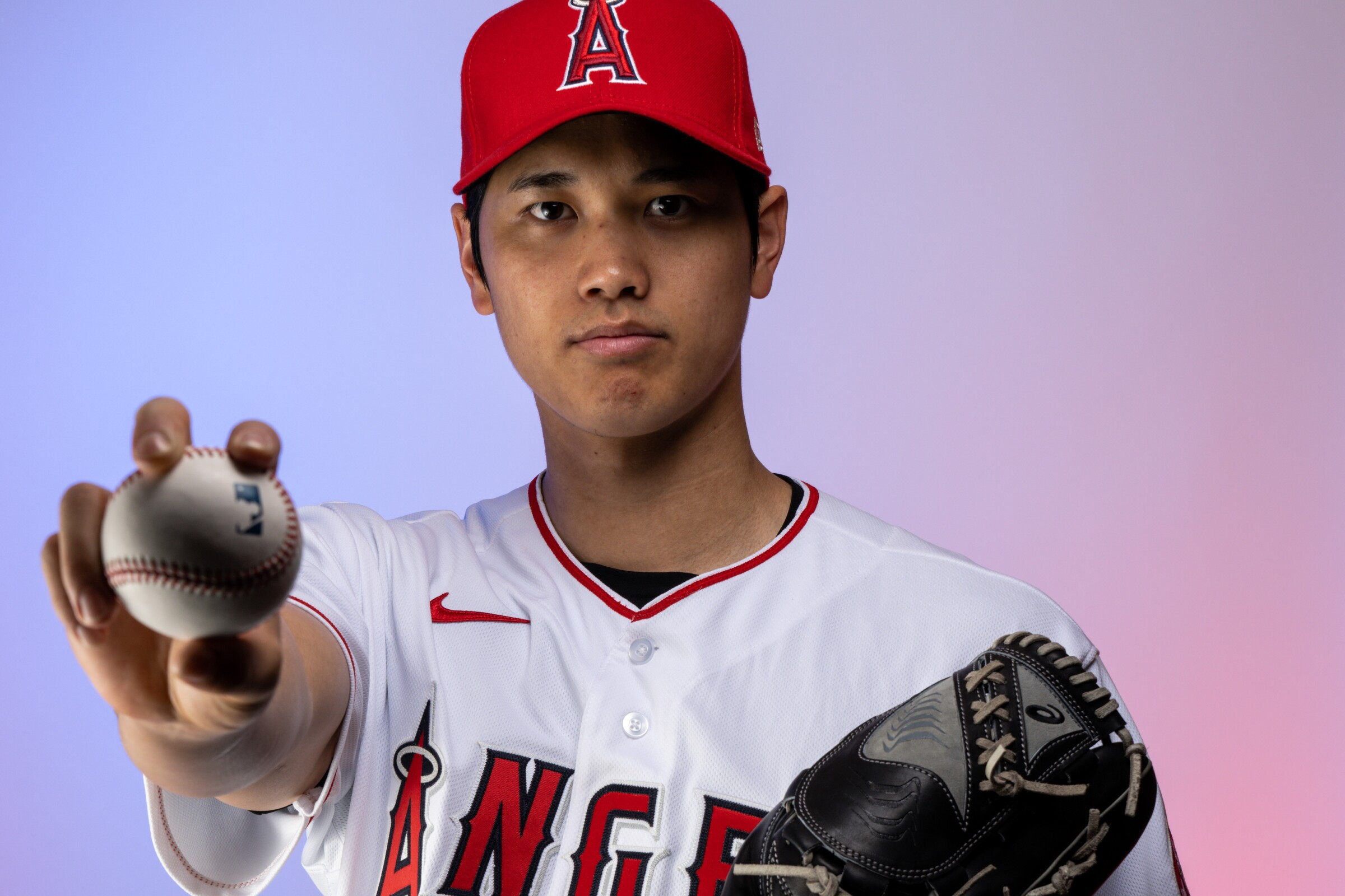 Los Angeles Angels left-handed pitcher/designated hitter Shohei Ohtani.
