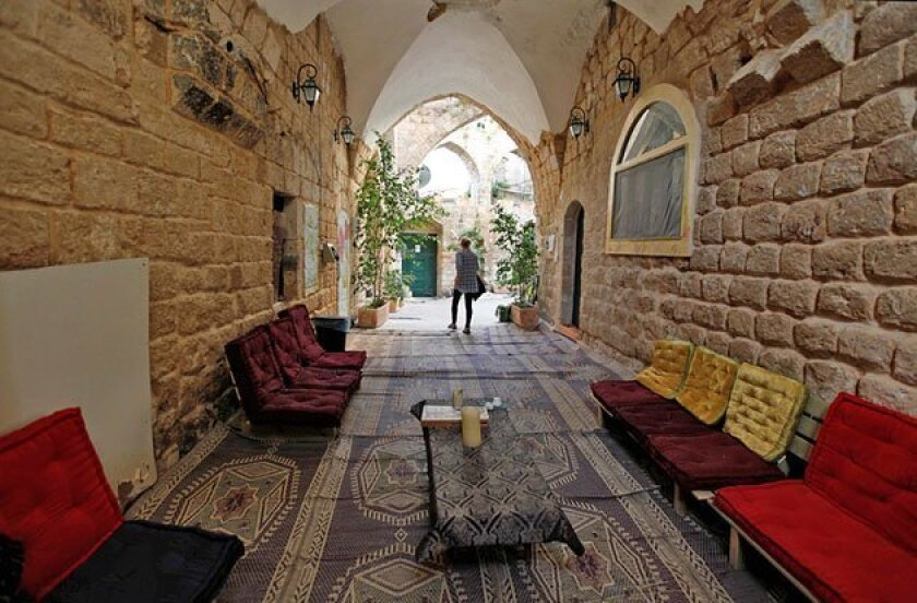 The Fauzi Azar Inn's owner restored an abandoned mansion in the Old City. (Tara Todras-Whitehill / Associated Press)