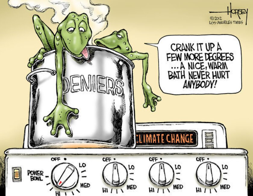 Climate change deniers refuse to accept scientific warnings