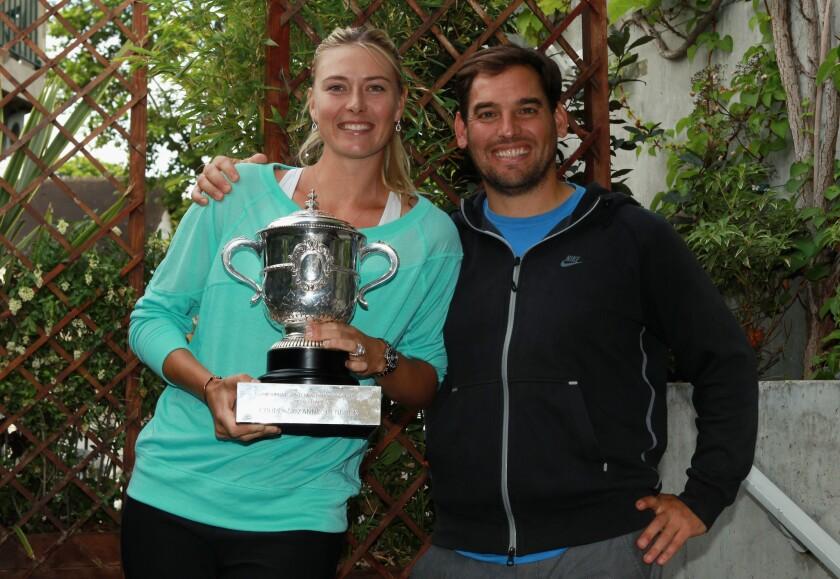 Maria Sharapova with Juan Reque