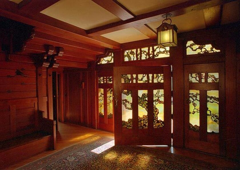 Art glass windows and expert joinery are but two draws to Greene & Greene's Gamble House in Pasadena.