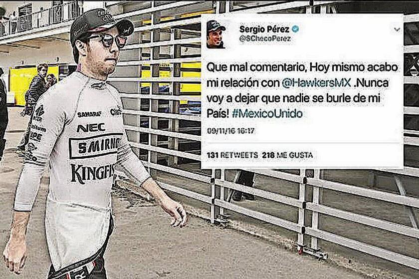 Sergio 'Checo' Pérez, piloto mexicano de Fórmula Uno.