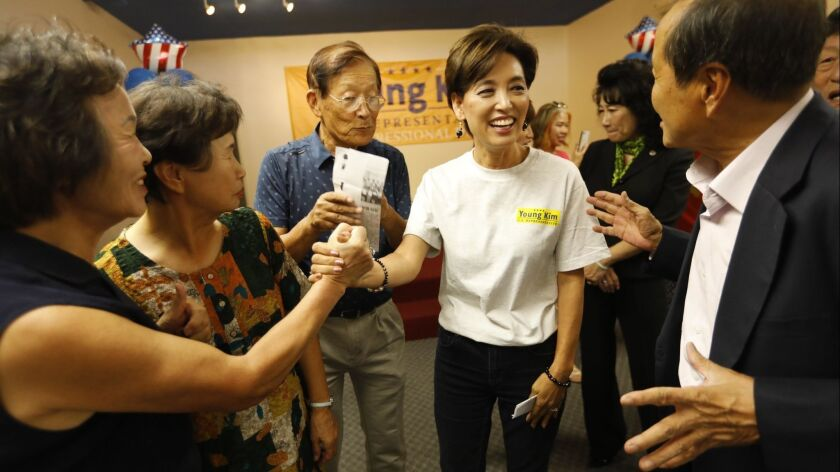 ROWLAND HEIGHTS, CA – AUGUST 25, 2018 - Former California Assemblywoman Young Kim, who's running f