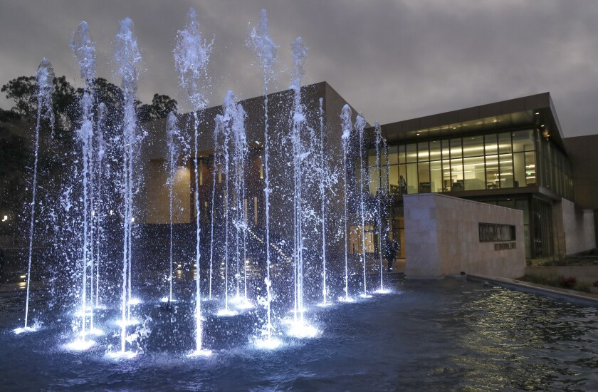 Legacy Center fountains