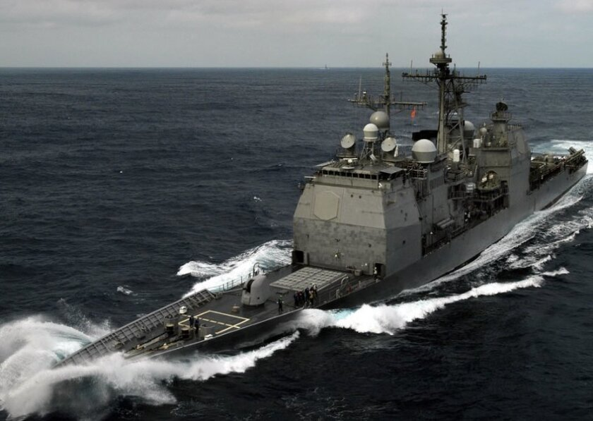 The 567-foot Ticondergo-class cruiser Chancellorsville was commissioned in November 1989.