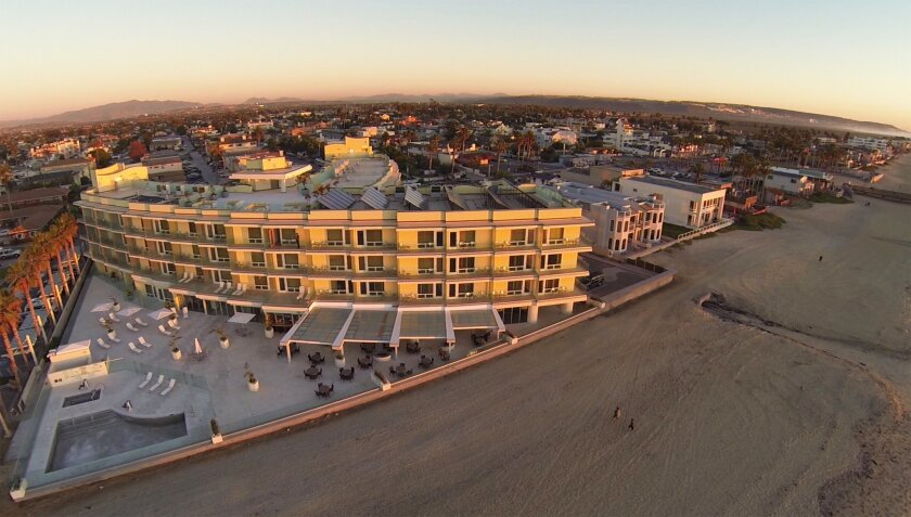 The new Pier South resort in Imperial Beach is one of only a few hotels in the county located right on the sand.