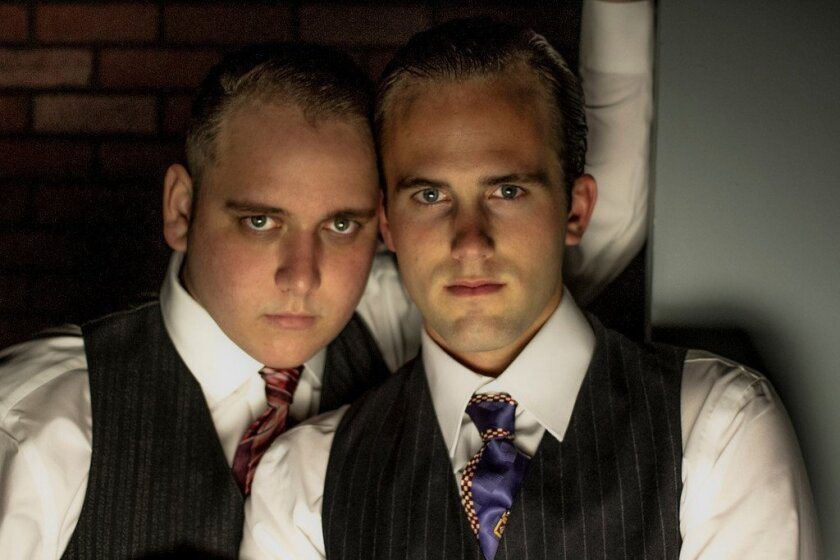 """Michael Parrott and Scott Nickley star in """"Thrill Me, the Leopold & Loeb Story"""" at Diversionary Theatre."""