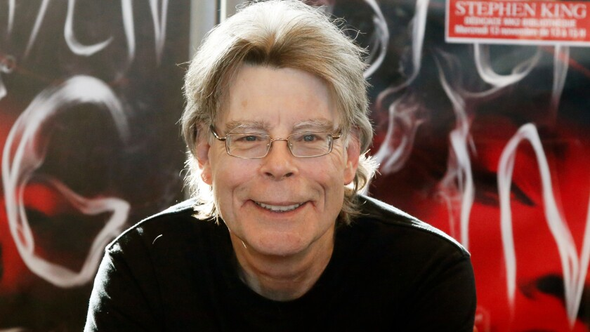 Stephen King leads a list of more than 600 writers who oppose Donald Trump.