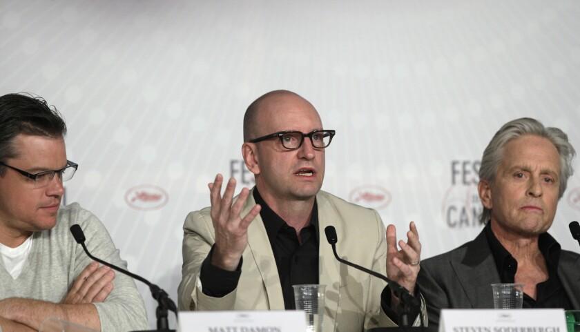 Matt Damon, Steven Soderbergh, Michael Douglas