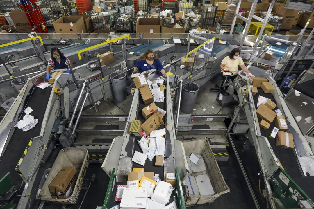 A USPS Processing & Distribution Center