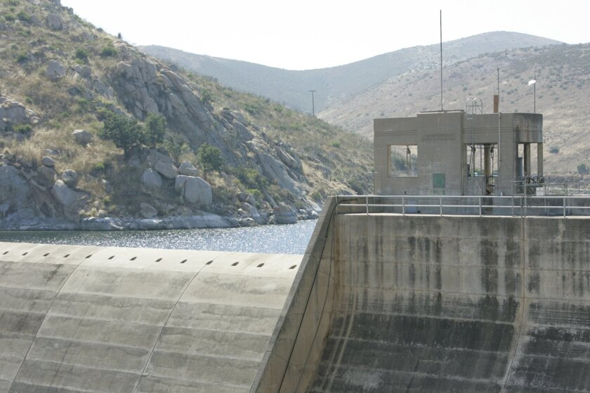 The San Vicente Reservoir, just north of Lakeside. (2005 file photo)