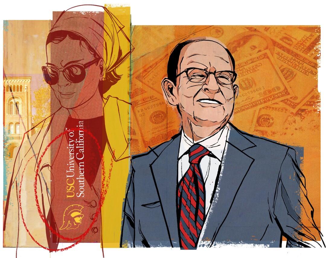 Artist's rendering of Sheikha Moza and C.L. Maz Nikias.