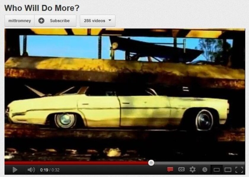 """A screen grab from a commercial by the Mitt Romney campaign titled """"Who Will Do More?"""""""