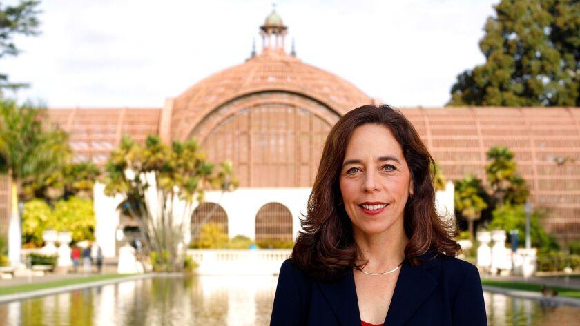 SAN DIEGO, CA, - DEC. 5, 2016 - San Diego City Attorney Mara Elliott in Balboa Park. (Photo by K.C. Alfred/San Diego Union-Tribune)