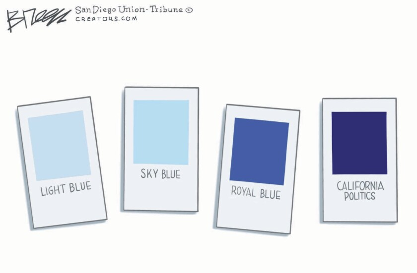 California is the bluest color swatch in this Breen cartoon