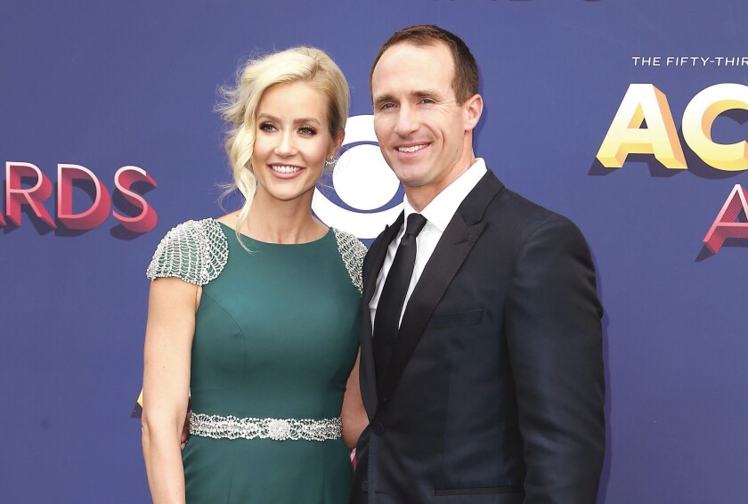 cfdf8d437 Jurors award Drew Brees more than $6M in jewelry lawsuit. 53rd Academy Of  Country Music Awards - Arrivals