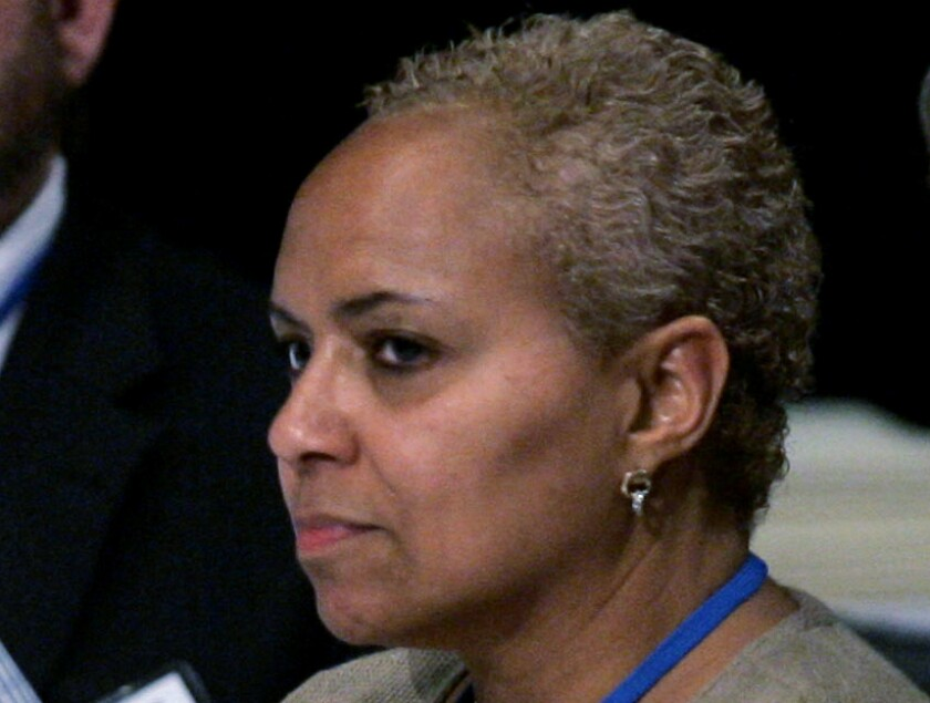 Tina Flournoy attends a hearing in Washington in 2008.