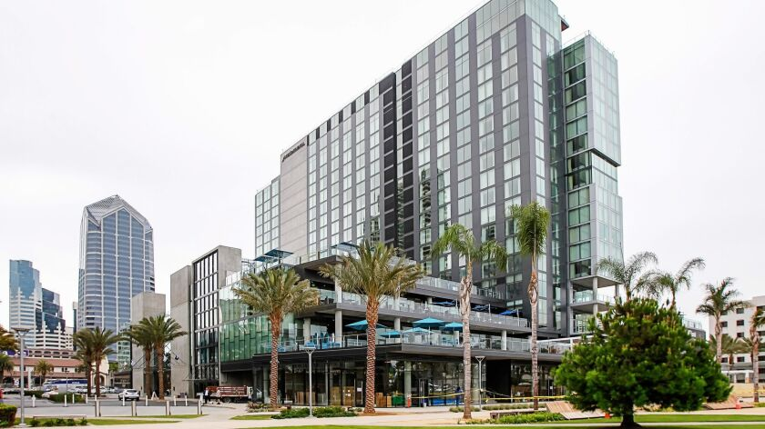 SAN DIEGO, CA September 7th, 2018 | Various exterior views of the new InterContinental hotel on Frid