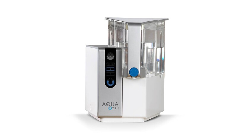 AquaTru is the first and only countertop reverse osmosis water purifier that creates bottled quality water from your tap. No plumbing or installation required.