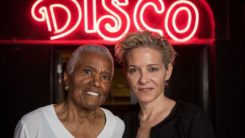 LOS ANGELES, CA - JUNE 2, 2016: Jewel Thais Williams, left, and C. Fitz stand is Williams' nightclub