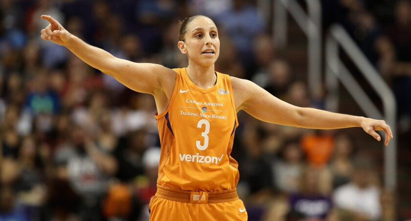 Diana Taurasi has won three WNBA titles with the Phoenix Mercury.