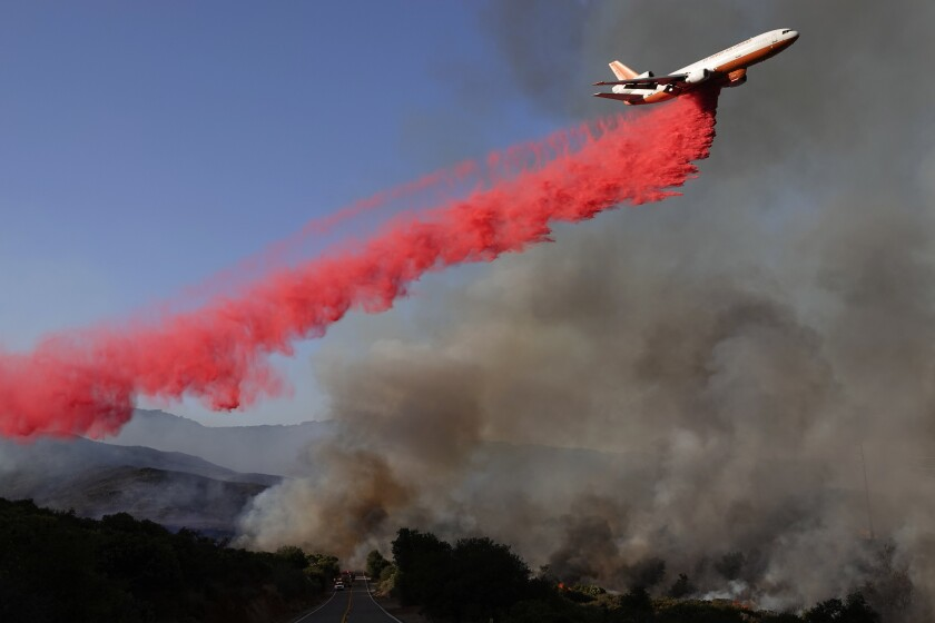 Santa Ana winds could make it more difficult to fight the Valley fire near Alpine.