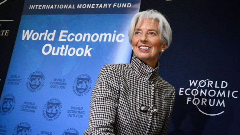 The International Monetary Fund, led by Christine Lagarde, is predicting global growth of 3.5% this year — down from the 3.7% expected in October.