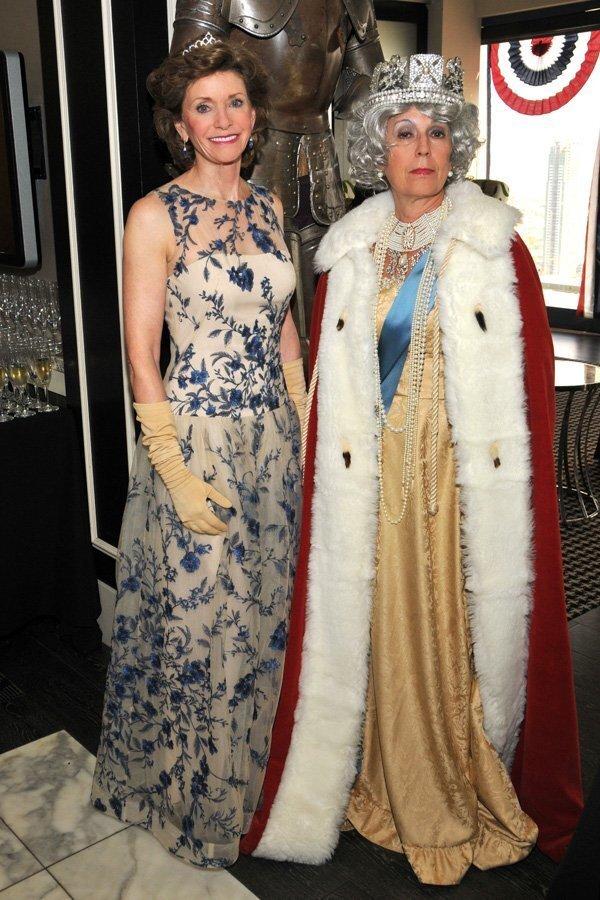 Susan Hoehn (gala chair; Prince of Wales sponsor), Glenda Gerde (as the Queen...)
