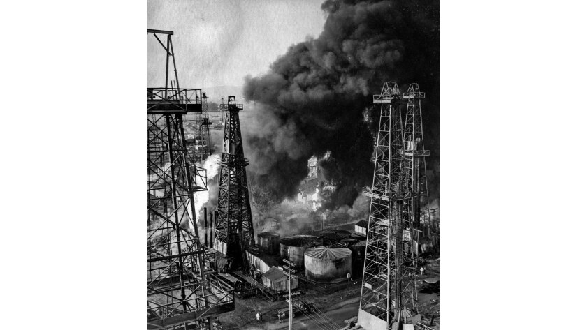 June 11, 1929: The fourth fire in nine months breaks out at Santa Fe Springs oil field. One of the w