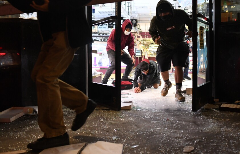 Mom-and-pop stores hit hard in downtown L.A. looting - Los Angeles ...