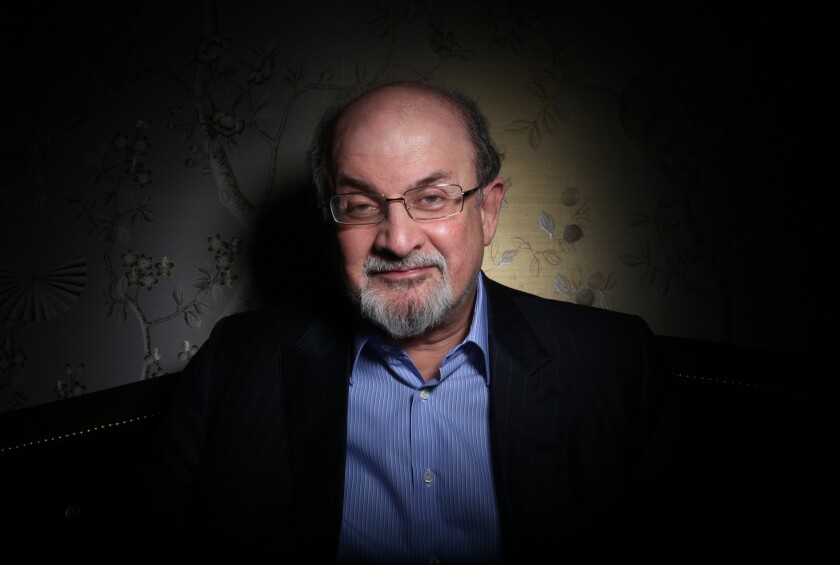 Author Salman Rushdie at the London Hotel in West Hollywood in 2012.