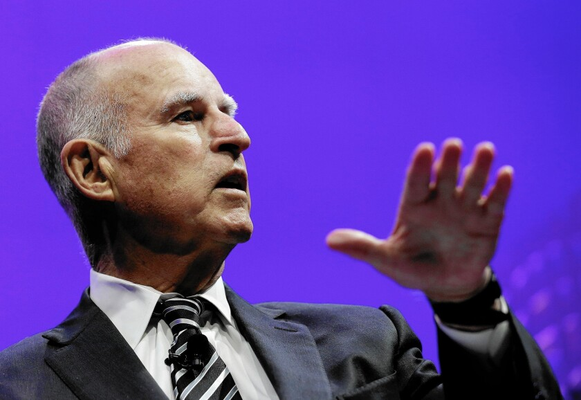 Jerry Brown disagrees with the new CalPERS pay-down plan
