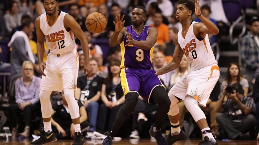 Lakers benched Luol Deng to give young players more playing time