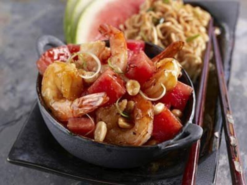 Menue--Kung Pao Watermelon Shrimp