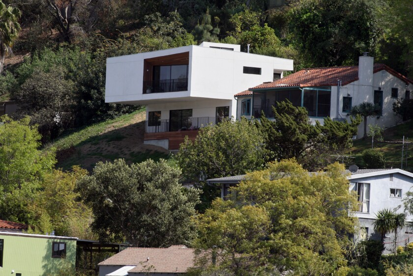 The home of McShane and Cleo Murnane is situated on a Silver Lake hillside.