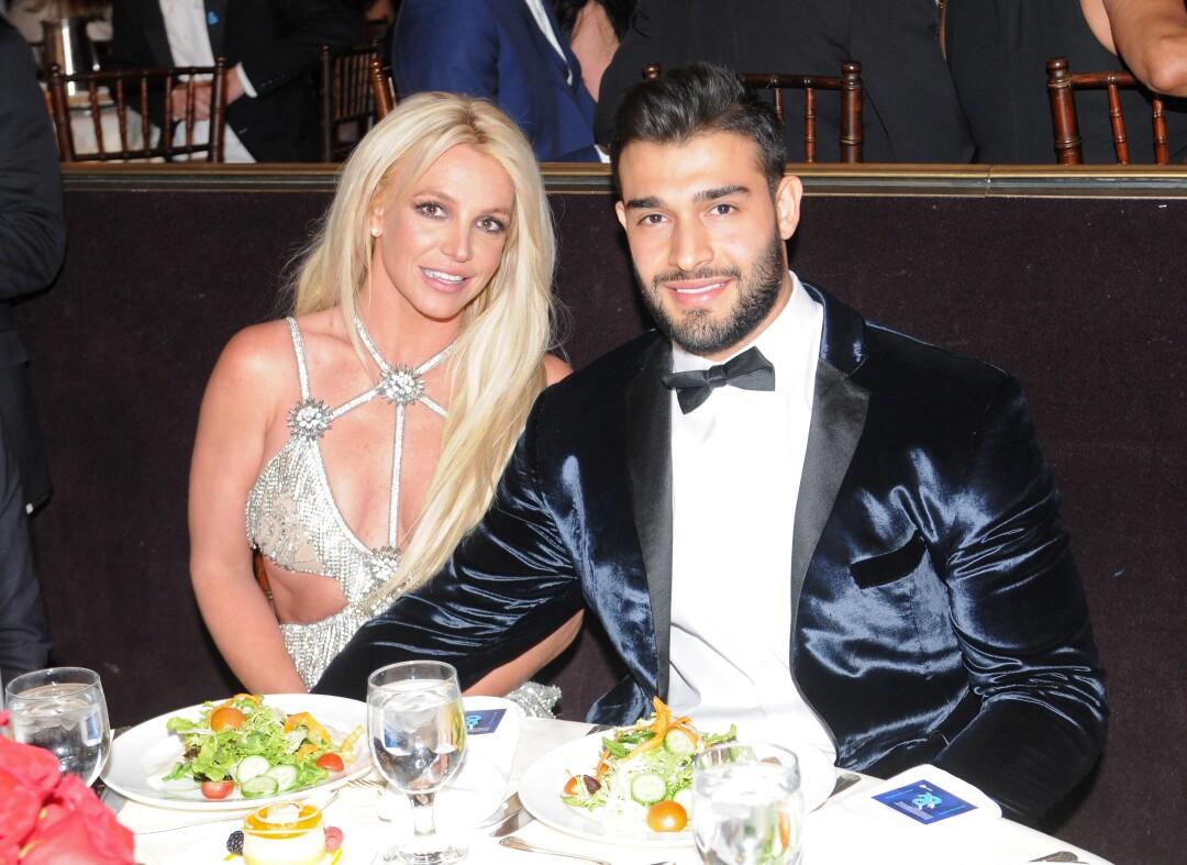 Britney Spears and boyfriend Sam Asghari in 2018.